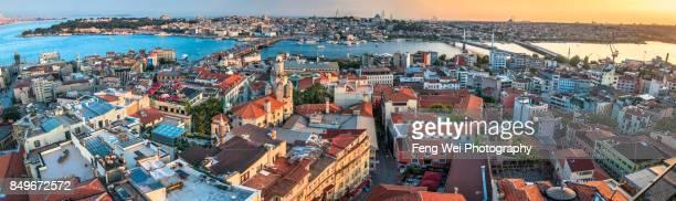 Cityscape Panorama From Galata Tower, Beyoğlu, Istanbul, Turkey