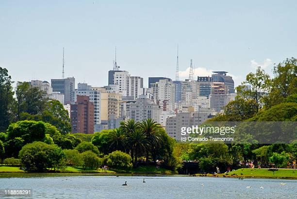 cityscape - ibirapuera park stock pictures, royalty-free photos & images