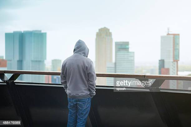 cityscape - hood clothing stock photos and pictures