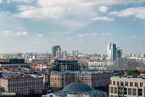 cityscape - minsk stock pictures, royalty-free photos & images