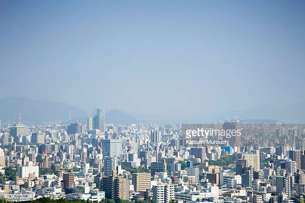 cityscape - hiroshima city stock photos and pictures