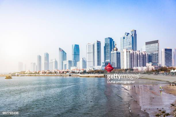 cityscape, qingdao, shandong province, china - qingdao stock pictures, royalty-free photos & images