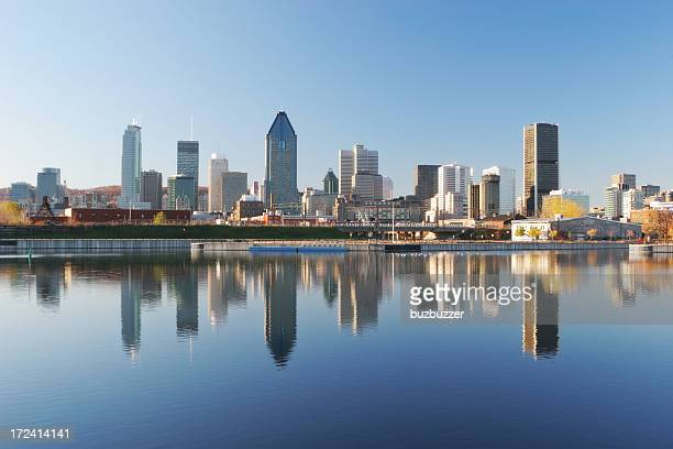 cityscape reflection of montreal city - buzbuzzer stock pictures, royalty-free photos & images