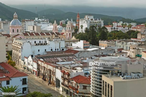cityscape, salta, salta province, argentina - salta argentina stock photos and pictures