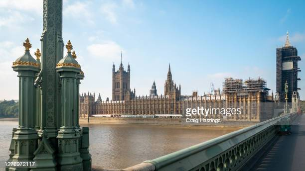 cityscape scene of the house of parliament, elizabeth tower, better known as big ben in london uk - former stock pictures, royalty-free photos & images