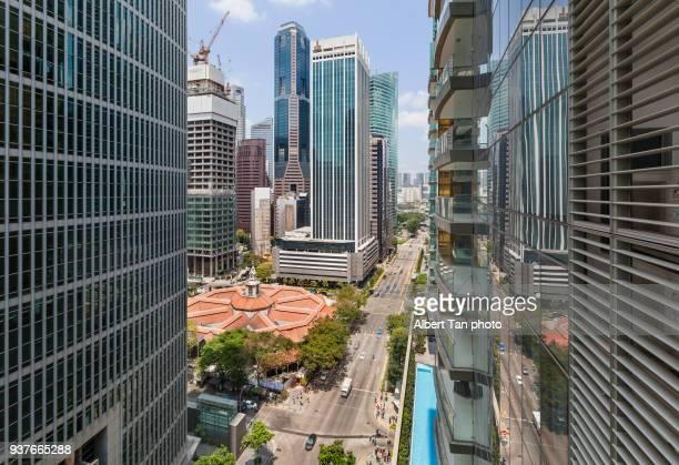 cityscape singapore - singapore cbd stock pictures, royalty-free photos & images