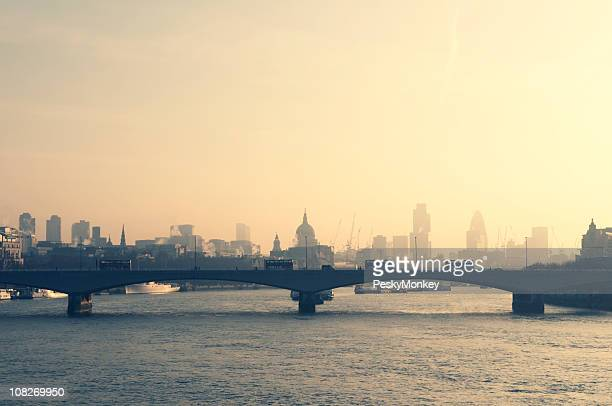 Cityscape Skyline of London and River Thames