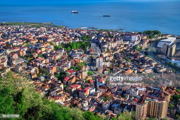 cityscape, trabzon, black sea region, turkey - trabzon stock photos and pictures