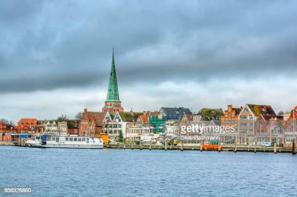cityscape, travemunde, schleswig-holstein, germany - travemünde stock photos and pictures