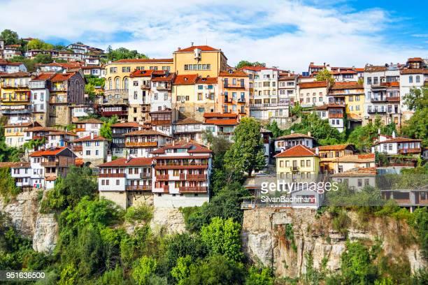 cityscape, veliko tarnovo, bulgaria - bulgaria stock pictures, royalty-free photos & images