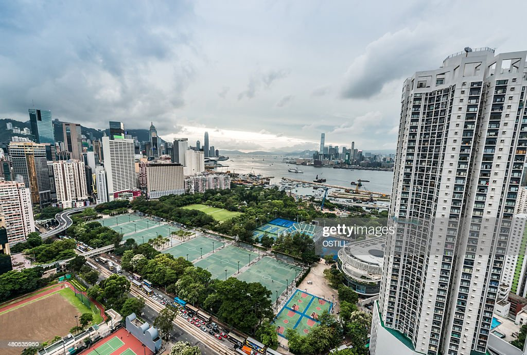 cityscape Victoria Park Causeway Bay Hong Kong : Stockfoto