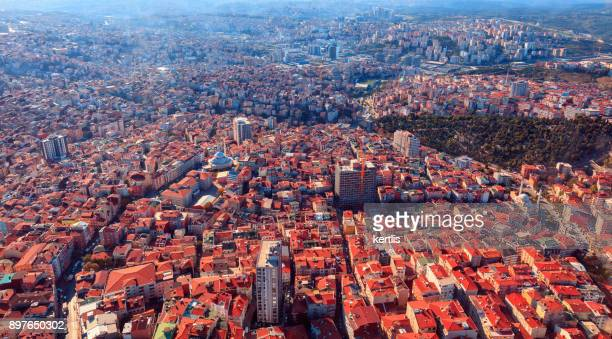 Cityscape, view from the height Istambul (roofs)