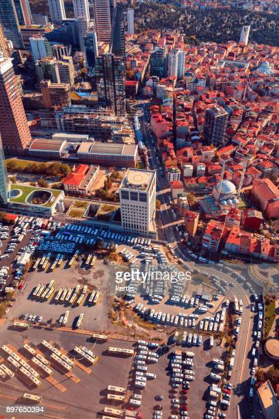 Paisaje, vista desde la altura de Estambul