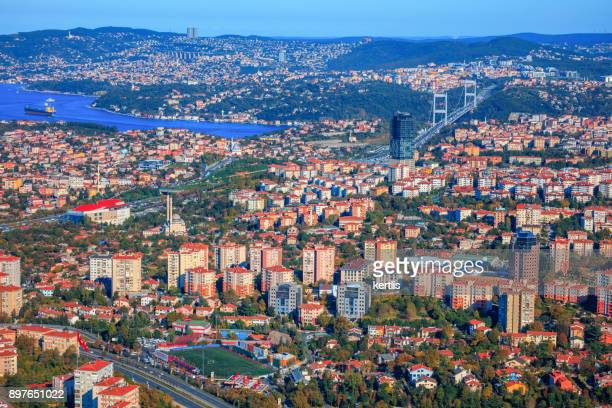 Cityscape, view from the height Istambul (sky;sea)