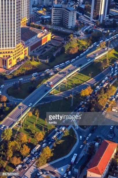 Stadtbild, Blick aus der Höhe Istambul (Straßen)