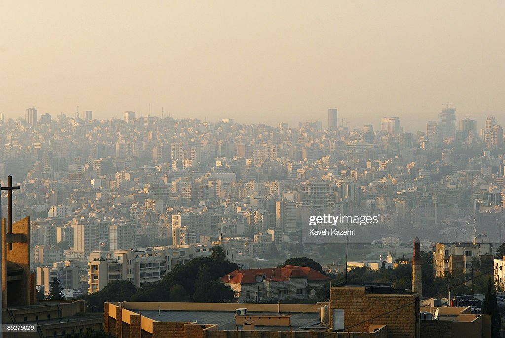 A cityscape view of Beirut seen from a building in Hazmieh neighborhood in Lebanese capital, Beirut on 10 November 2008.