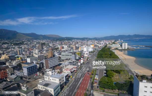 別府市と別府湾の街並み風景、大分、九州、日本 - 別府市 ストックフォトと画像