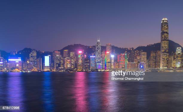 Cityscape view of Hong Kong skyline