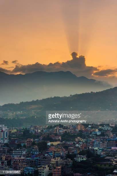 cityscape view of kathmandu nepal - カトマンズ ストックフォトと画像