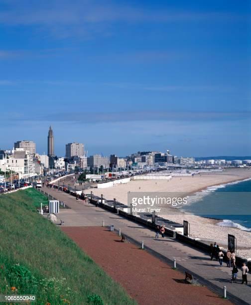 cityscape view of le havre - etalement urbain photos et images de collection