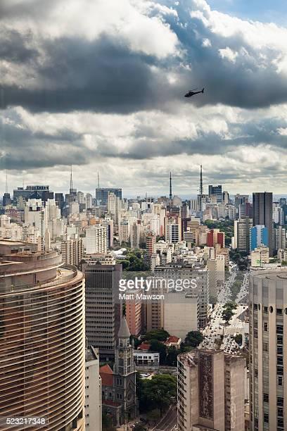 Cityscape view of São Paulo Brazil