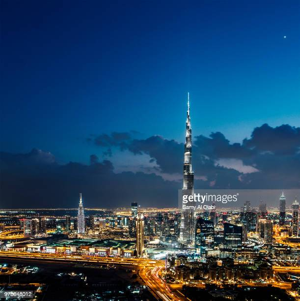 Cityscape with Burj Khalifa, Dubai, United Arab Emirates