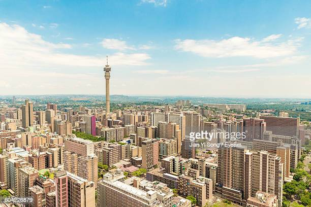 Cityscape With Hillbrow Tower Against Sky