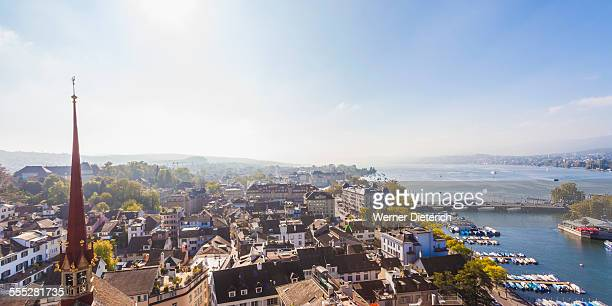Cityscape with Lake Zurich, Zurich, Switzerland