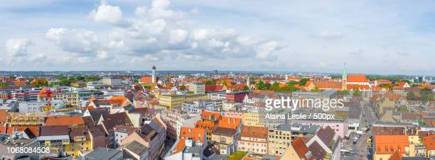 Cityscape with old town of Augsburg, Bavaria, Germany