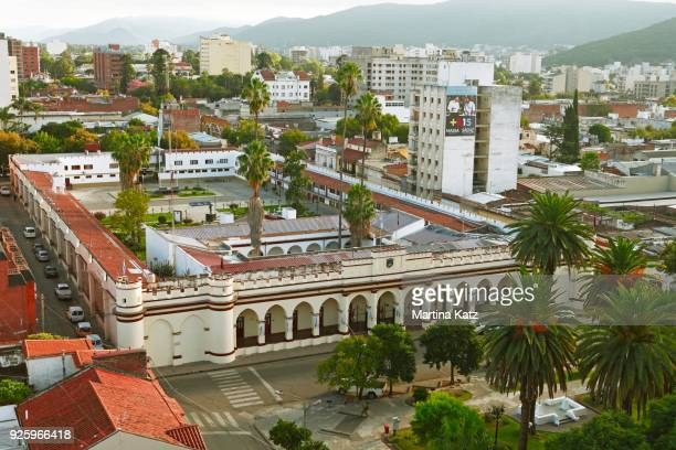 cityscape with palace of justice, palacio legislativo, salta, salta province, argentina - サルタ州 ストックフォトと画像
