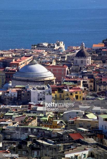 Cityscape with San Francesco di Paola church Naples Campania Italy