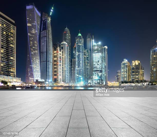 cityscape with skyscrapers in dubai, united arab emirates - image stock pictures, royalty-free photos & images