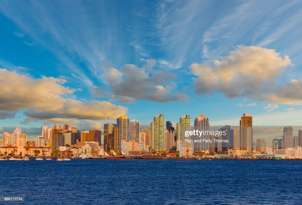 Cityscape With Skyscrapers Of San Diego Skyline Ca P Stock Photo