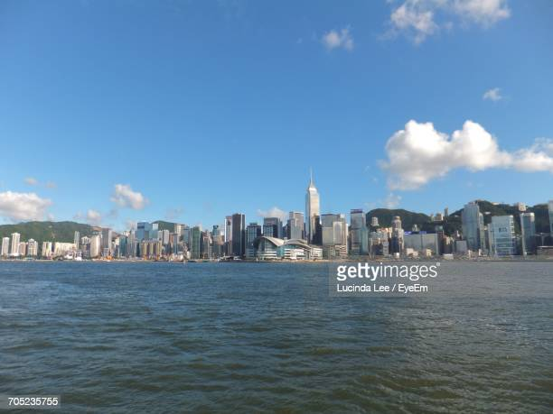cityscape with waterfront - lucinda lee stock photos and pictures