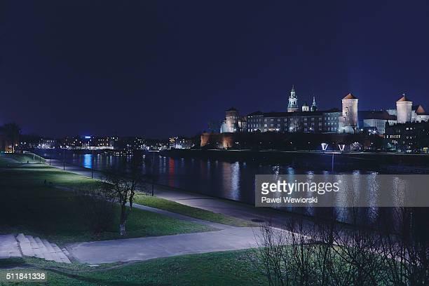 Cityscape with Wawel Castle