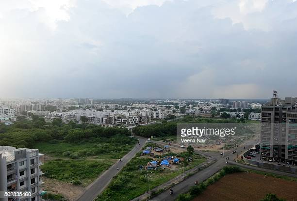 cityscape-motera-ahmedabad - ahmedabad stock pictures, royalty-free photos & images