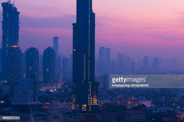 cityscapes and sunrise. - downtown miami stock pictures, royalty-free photos & images