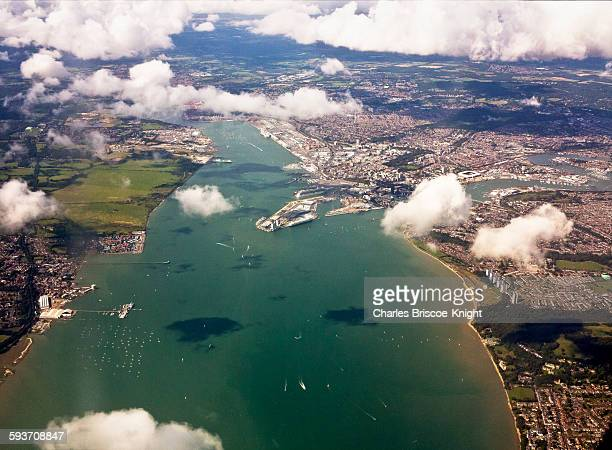 cityscapes - southampton water stock photos and pictures