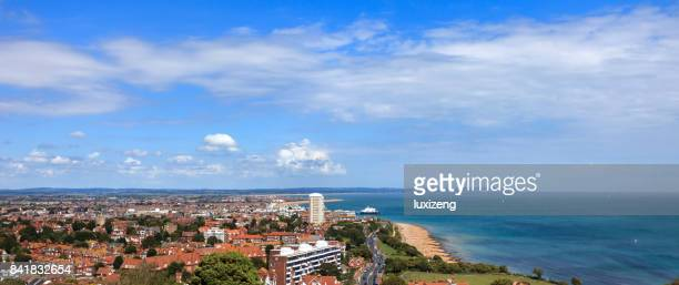 cityscapse of eastbourne - eastbourne stock pictures, royalty-free photos & images