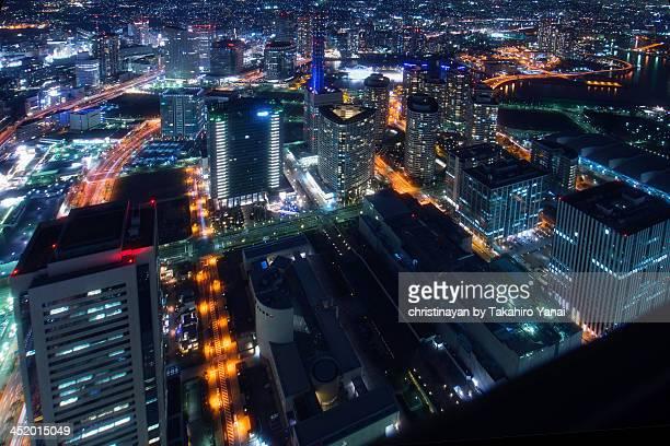 cityspace of minatomirai, yokohama city - christinayan ストックフォトと画像