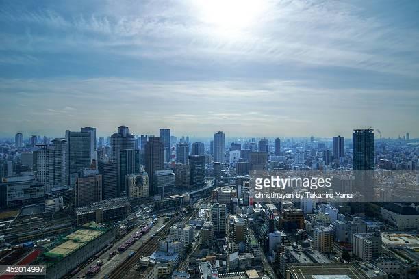 cityspace of osaka city - christinayan ストックフォトと画像