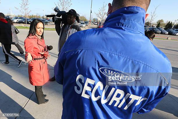 CityTV's Anna Vlachos reports from BMO Field with security nearby. Maple Leafs Sports and Entertainment provides additional security for television...