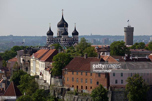 city-wall of tallinn - estonia stock photos and pictures