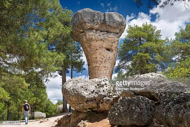 Ciudad Encantada (Enchanted city) rock formations, near Cuenca in Spain.