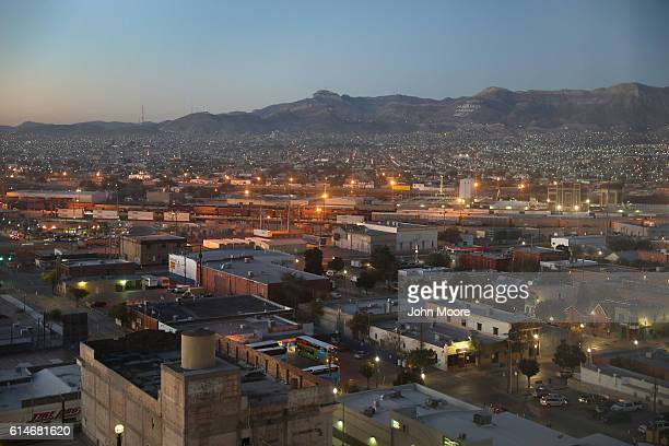 Ciudad Juarez is seen from the Texas side of the USMexico border early on October 14 2016 in El Paso Texas The Rio Grande serves as the border...