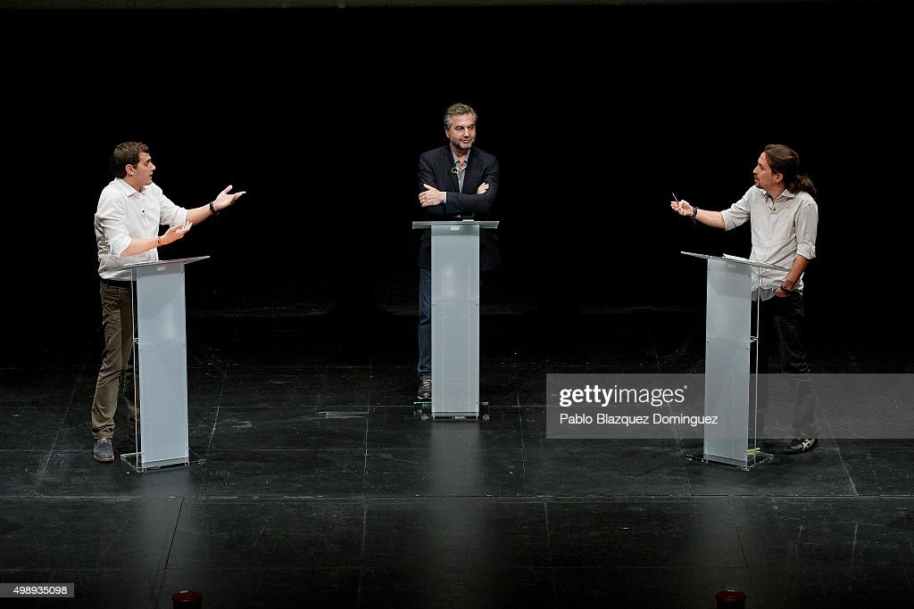 Pablo Iglesias And Albert Rivera Attend The First Ever Debate In A Public University