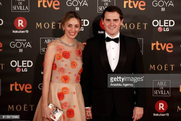 Ciudadanos Party leader Albert Rivera attends the 32th edition of the Goya Awards ceremony in Madrid Spain on February 04 2018