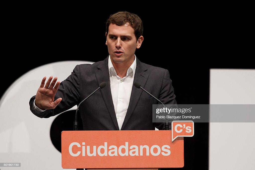 Ciudadanos Albert Rivera Attends Campaign Rally In Madrid - Spain General Elections