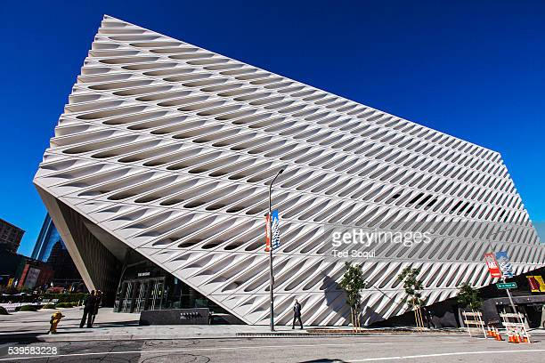 Civic dedication and ribbon-cutting ceremony held for The Broad museum in downtown Los Angeles. The $140 million dollar museum will house the Broad...