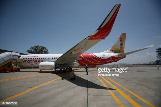 Civil Aviation Aeroplane V Thulasidas CMD Air India walks into the Boeing 737800 parked near the Air India hanger at Kalnia on Thursday This aircraft...